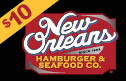new orleans hamburger and seafood - $10 Gift Card