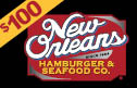 new orleans hamburger and seafood - $100 Gift Card