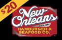 new orleans hamburger and seafood - $20 Gift Card