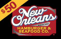new orleans hamburger and seafood - $50 Gift Card
